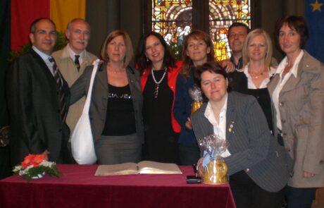 Cerimonia in Rathaus per il Ventennale del Gemellaggio (2010), presente anche il dr. Giani che diede l'avvio al Parnerariato